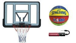 Basketball set Spartan Wall Mounted Backboard + Spalding Junior + pump