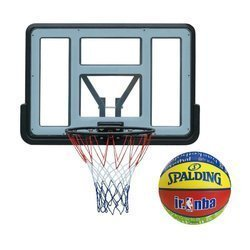 Basketball set Spartan Wall Mounted Backboard + Spalding NBA Junior