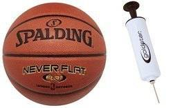 Spalding Never Flat indoor/outdoor Pallacanestro- 3001530010017 + Pump