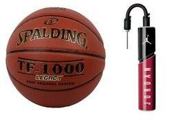 Spalding TF-1000 Legacy Basketball + Air Jordan Essential Ball Pump
