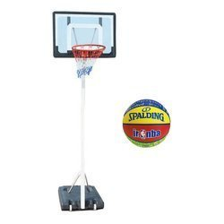 Spartan Portable Basketball Stand 1158 + Spalding NBA Junior