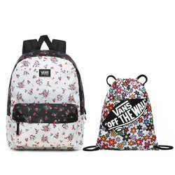 Vans Realm Classic Beauty Floral Patchwork Zaino + Benched Bag