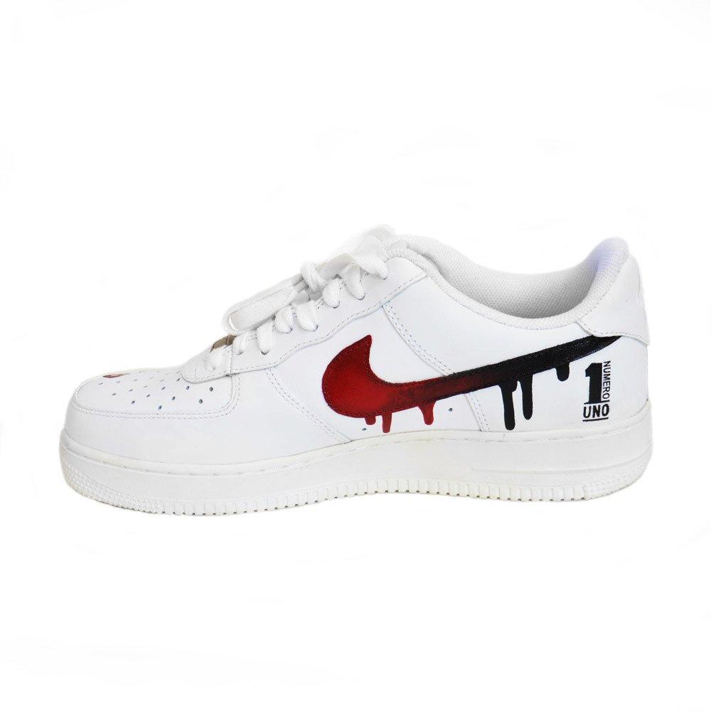 Nike Air Force 1 Low All White Custom Pablo Numero Uno