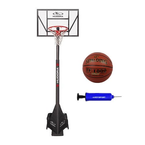 Basketball set Hudora Competition Pro + Spalding TF-1000 Legacy + Pump