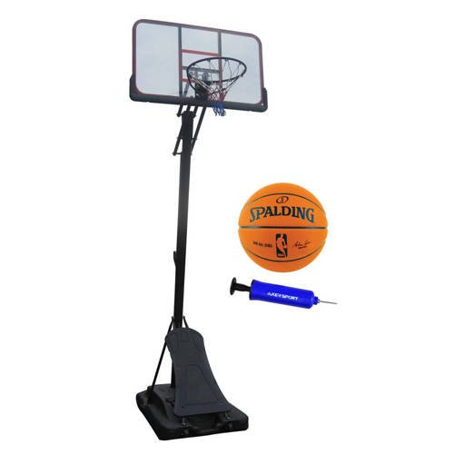 Set da basket Spartan Pro Basket Board + Spalding NBA Game Ball Replica + Axer Sport pomp