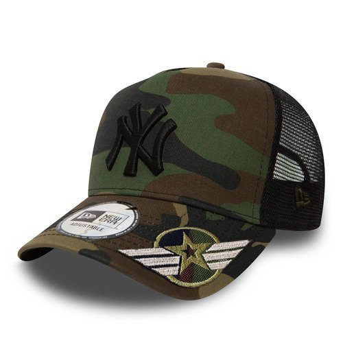 Czapka z daszkiem New Era MLB New York Yankees Clean A Frame Trucker camo moro Custom Army - 11579473